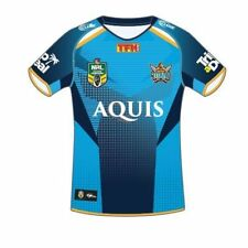 Gold Coast Titans NRL Kids Home Jersey Shirt BNWT Rugby League Clothing