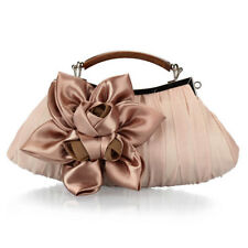 Women Bridal Handbag Wedding Prom Party Flower Evening Bag Chain Clutch Bag Gift