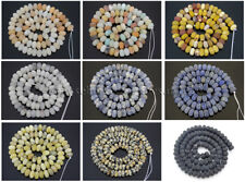 Natural Matte Gemstones Rondelle Spacer Loose Beads 15.5'' 4mm x 6mm 5mm x 8mm