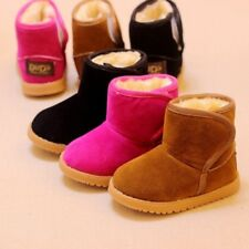 Child Winter Warm Snow Boots Boys Girls Kids Baby Toddler Shoes Plush Thicker