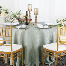 "Wedding Linens Inc. 120"" Round Damask Jacquard Polyester Tablecloths Table Cover"