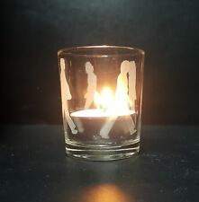 The Beatles Abbey Road Sandblasted Etched Glass Votive Candle Holder