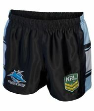 Cronulla Sharks NRL Mens Supporter Shorts BNWT Rugby League Clothing