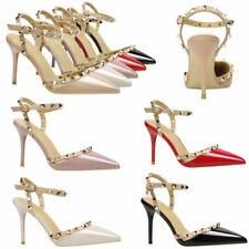 Sexy Women Rivets Buckle Shallow Shoes Lady Stiletto Point toe High Heel Sandals