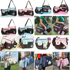 U Pick Baby Changing Diaper Nappy Bag Mummy Shoulder Handbag Pink Blue Set Purse