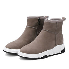 Women winter snow boots suede ankle warm boots with Platform casual shoes