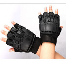 Military Tactical Gloves Training Paintball Airsoft Shooting Half Finger Hard