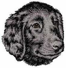 Flat-Coat Retriever Dog, Embroidered Patch, or Embroidered Hat