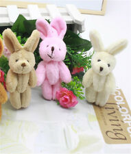 Cute 2X Wedding Gift Joint Rabbit Pendant Plush Stuffed TOY Soft Rabbit For Kid