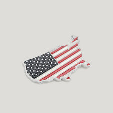 American Flag Map Car Decoration Stickers 3D Metal Solid Car Decals