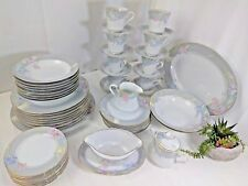 Mikasa Fine China Charisma Gray Set Dinner Plates Bowls Cups Saucers Gravy Japan