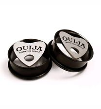 Ouija Board Planchette Tunnels Surgical Black Stainless Steel Ear Plugs All Size