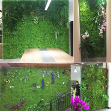 Artificial Plants Vertical Garden Hedge Screen Green Wall Fake Panel Home Decor