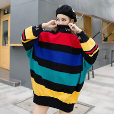 Chic Womens Sweet Pull Over Blouses Long Sleeve Loose Tops Shirts