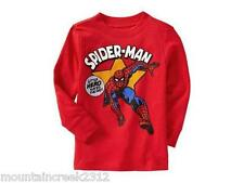 New OLD NAVY Boy's Shirt Size 12 18 months Marvel SPIDERMAN Tee Long Sleeve Red