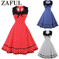 Women's Vintage 50s Rockabilly Dress Pinup Swing Evening Party Housewife Dress