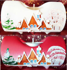 Candle Holders Christmas Decoration Glass Tea Light Advent Hand Painted Wohnen