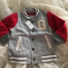 Baby Gap Bomber Jacket Gray And Red Msrp $44.95 NWT 12-18Month