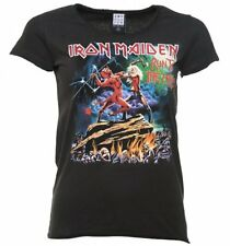 Official Women's Charcoal Iron Maiden Run To The Hills T-Shirt from Amplified