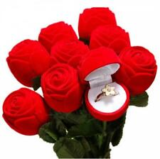 Romantic Rose Flower Ring Earring Necklace Jewelry Gift Box Storage Case Holder