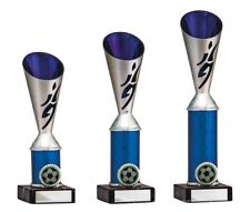 Silver/Blue Football Player Cup Trophies 3 sizes FREE Engraving