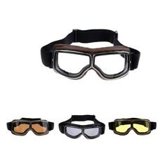 Retro Motorcycle Goggles UV Protection Eyewear PC Lens Ski Goggle for Helmet