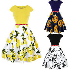 50S 60S ROCKABILLY DRESS Vintage Style Swing Pinup Retro Housewife Prom Dresses