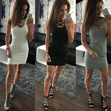 Women Summer Casual Short Mini Dress Cocktail Party Evening Bodycon Sleeveless
