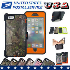 With Belt Clip Case Defender TPU+PC Hard Shockproof Cover For iPhone 6 6S 6 Plus