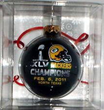 GREEN BAY PACKERS SUPER BOWL XLV 45 CHAMPS champions CHRISTMAS ORNAMENT #1