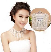 Women chain Imitation pearls necklace sweet braided lace collar necklace