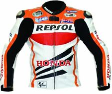 Repsol Mens Motorbike Leather Jacket Motorcycle Sport Rider Leather Jacket
