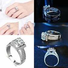 Thumb Rings Charm Crystal Zircon Rhinestones Sliver Party Man Women Jewelry Gift