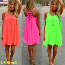 US Green Sexy Womens Summer Chiffon Evening Party Cocktail Strapless Mini Dress