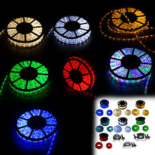 150FT LED Rope Light 2-Wire Outdoor Home Decoration Party Lighting 110V Indoor