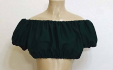 Peasant Boho Cap Sleeve Crop Top Pirate Wench Costume Gypsy Fairy Renaissance