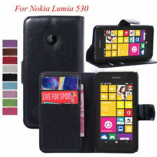 Luxury Flip PU Leather Case Cover Wallet Pouch Stand For Nokia Lumia 530