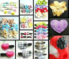 HAIR GRIPS CLIPS ANGEL WINGS MUSIC HEART STRAWBERRIES CAT FLOWER HEART