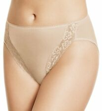 NWT Wacoal 89371 Bodysuede Lace Leg High Cut Brief Panty #141 NUDE MULTI SIZES