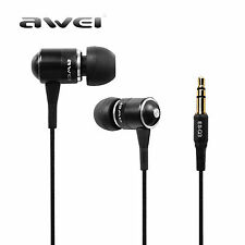 Awei Q3 Earphone Super Bass Noise Isolation Headphone Stereo 3.5mm for Phone/MP3