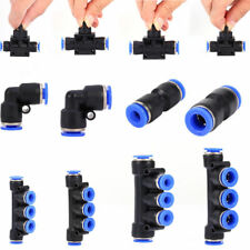 Pneumatic Push-In Fitting Air Valve Water Hose Tube Pipe Connector Joiner ams
