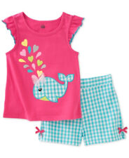 Baby Girls Outfit Kids Headquarters Top Shorts Gingham Hot Pink 3-6M 6-9M NWT