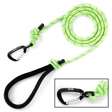 Mighty Paw Rope Dog Leash, Premium Climbers Rope, 6 Foot Long, Reflective