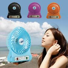USB Powered Mini Portable Cooling Fan 3 Speed w/Light For Computer Laptop