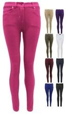 WOMENS LADIES SKINNY FIT STRETCH JEANS JEGGINGS LEGGINGS TROUSERS SIZE 8-14