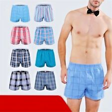 Men Classic Underwear Plaid Boxer and Cotton Trunk Woven with Elastic Waistband