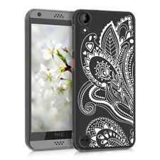 CRYSTAL SILICONE TPU CASE FOR HTC DESIRE 530 PAISLEY FLOWERS IMD DESIGN WITH