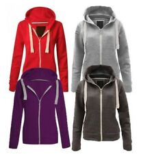 Ladies Plain zip up hoody / jacket - also available in Plus Sizes