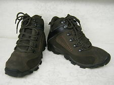 Mens A3034 Brown Leather Lace Up Hiking Style Boots