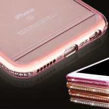 Glittery Diamond Sparkling Bling Hard Bumper Case Cover For iPhone 5S 6 6S Plus